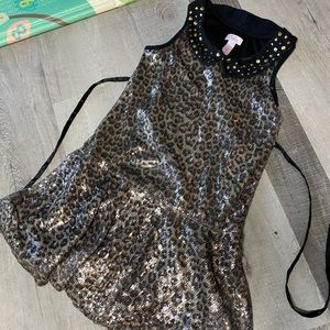 Animal print sequins Justice girls dress